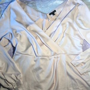 NWOT: Lane Bryant Blush Rose Blouse